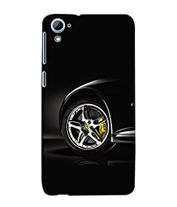 Fuson 3D Printed Car Designer Back Case Cover for HTC Desire 826 - D572