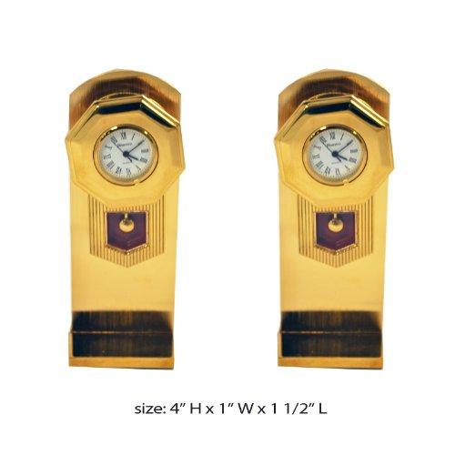 Gold Mini Grandfather Clock w/Stand