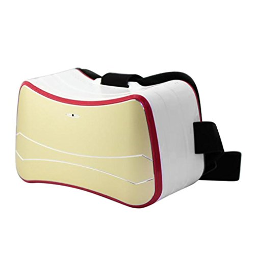 Tiean HD Virtual Reality 3D Video Glasses Quad-Core for Android 4.4 2 (Beige)