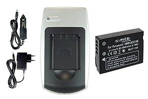 Chargeur + Batterie BCG10 / BCG10E pour Panasonic Lumix DMC-TZ.. / ZR.. / ZS.. / ZX.. +autres (voir liste)