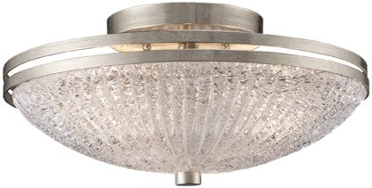 B004LWMI6W Trump Home New York 3-Light Semi-Flush in Renaissance Silver