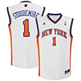 Amar'e Stoudemire Jersey: adidas Revolution 30 White Replica #1 New York Knicks Jersey