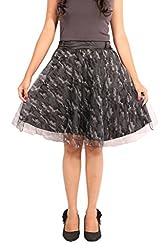 Showoff Grey Printed Skirts