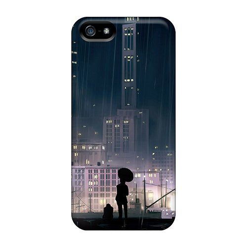 Premium Tpu Rain Buildings Cover Skin For Iphone 5/5S front-587455