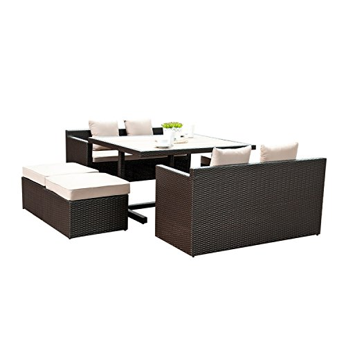 7-PC-Outdoor-Patio-Wicker-Dining-Set-Poly-Wood-Dining-Table