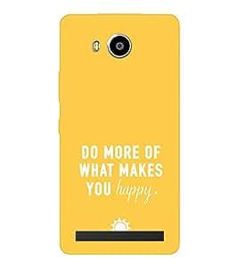 EPICCASE Do what you love Mobile Back Case Cover For LENOVO A7700 (Designer Case)