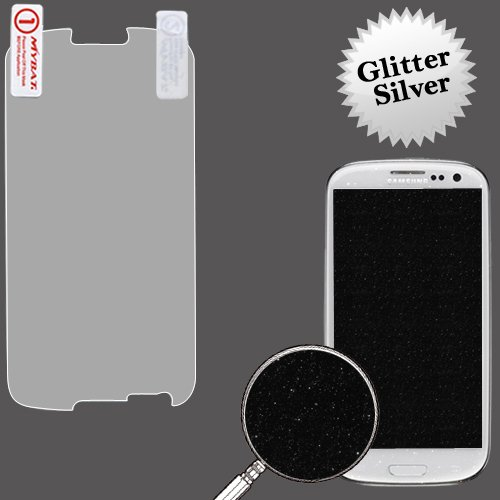 Cell Accessories For Less (Tm) Samsung Galaxy S Iii (I747/L710/T999/I535/R530/I9300) Glitter Lcd Screen Protector/Silver + Bundle (Stylus & Micro Cleaning Cloth) - By Thetargetbuys