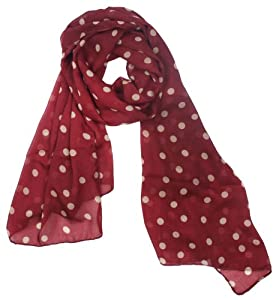 Kobwa(TM) Women Lady Girl Beautiful Fashion Charming Beige Polka Dot Warm Scarf Wrap Shawl With Kobwa's Keyring