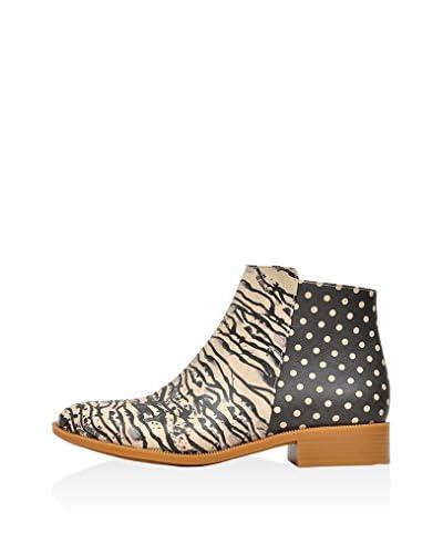 DOGO Ankle Boot Zebra Illusion