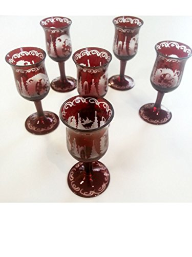 cordial-glass-antik-bohemian-hand-cut-cordial-glass-rare-ruby-red-mouth-blown-original-egermann-crys
