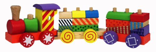 Wooden Toys Pull Along Train Stacker
