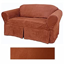Suede Rust Furniture Slipcover Chair 616