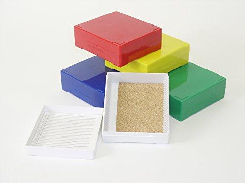 25 Capacity Slide Storage Box, Green. Set Of 2Pcs