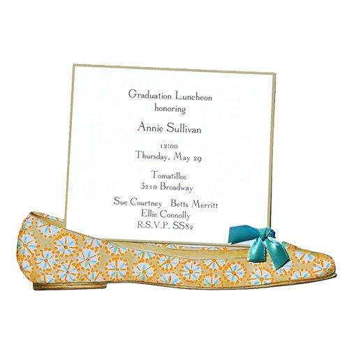 Orange Ballerina Flat Shoe Die-Cut Card, Pack Of 10 front-942664