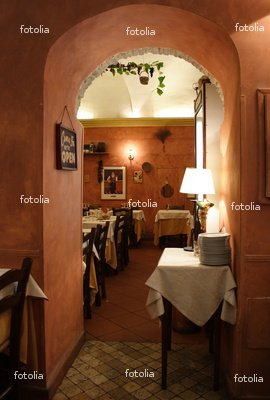 "Wallmonkeys Peel and Stick Wall Graphic - Romantic Italian Restaurant #2 - 18""H x 12""W"