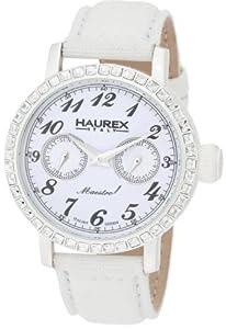 (黑五)Haurex Italy 6W343DW1大师R级白色表盘水晶女士手表 $95.72