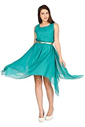 Pretty Angel Woman's Polygeorgette Dresses (Small, Rama Green)