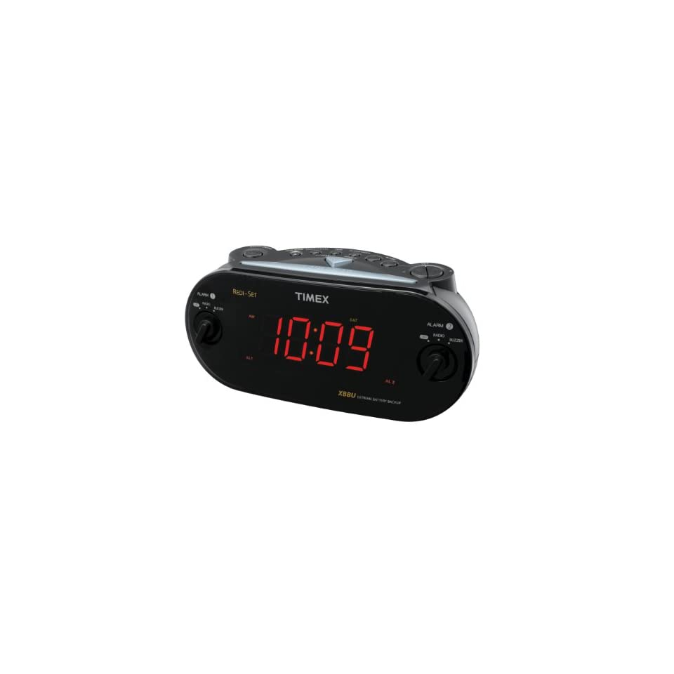 Timex T715BW3 Dual Alarm Clock Radio (Black) (Discontinued by Manufacturer) Electronics
