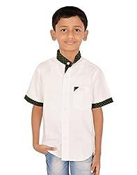 Gkidz Small Checked Mandarin Collar Shirt for Boys