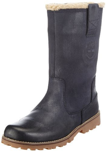 Timberland Boys Asphalt Trail FTK_8 In Pull On WP Boot with Shearling Chukka Boots Blue Blau (Navy Nubuck with burnish) Size: 39