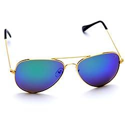 Optis Aviator Sunglasses (Golden) (SRSXC3L4)