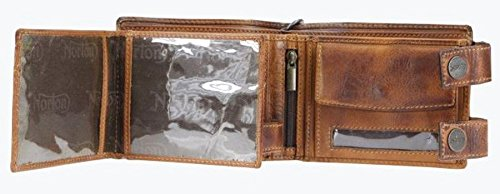 Full Grain Leather Black Norton Motorcycle Wallet (Black) 1
