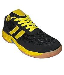 Port Hawks Black Badminton Shoes( size 7 ind/uk)