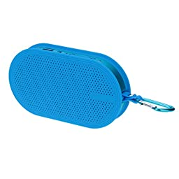 Blue Wireless Soundbox Audio Loudspeaker Bluetooth 2.1 + EDR Stereo Speaker Hands-free with Mic TF Card U Disk USB Flash Drive Play