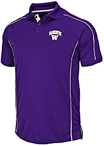 Washington Huskies Purple Synthetic Pitch Polo Shirt by Chiliwear by Colosseum
