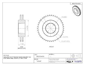 tsubaki d40ctl42 roller chain sprocket, double strand ... tsubaki wiring diagram #3