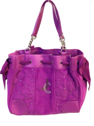 Juicy Couture JC Quilted Velour Daydreamer YHRU3298, Magenta (Juicy Couture Side Bag compare prices)