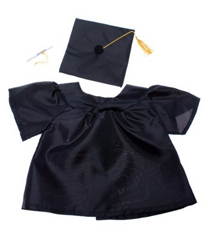 "Graduation Gown w/Hat and Scroll Outfit Teddy Bear Clothes Fit 14"" - 18"" Build-A-Bear, Vermont Teddy Bears, and Make Your Own Stuffed Animals"