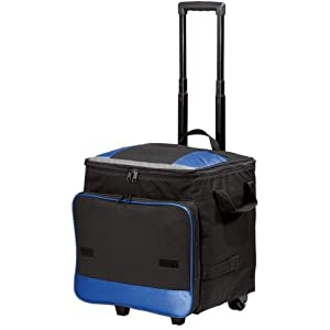 Joe's USA 48 Can Collapsible Rolling Cooler - Blue