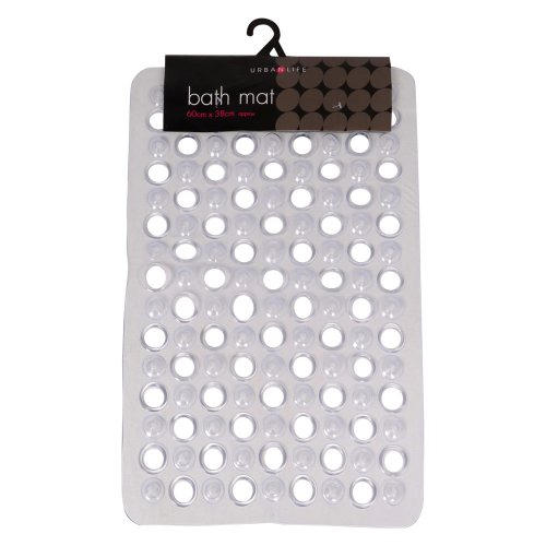 Modern And Contemporary PVC Plastic Bath Room Mat with Suction Caps 60x38cm