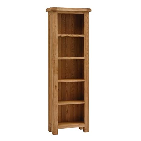 Lyon Oak Slim Bookcase 5 Shelves