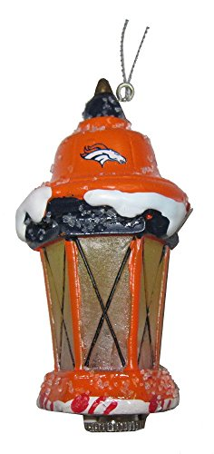 Denver Broncos Nfl Football Led Light Up Lantern Christmas Ornament