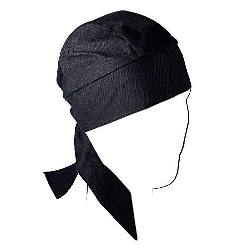 ZANheadgear Flydanna 100 Percentage Cotton Deluxe Head Wrap (Black)