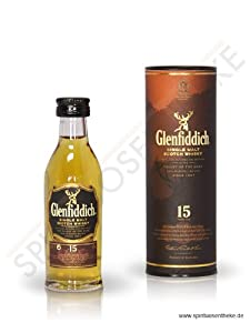 Glenfiddich 15 year old Single Malt Scotch Whisky 5cl Miniature by Glenfiddich