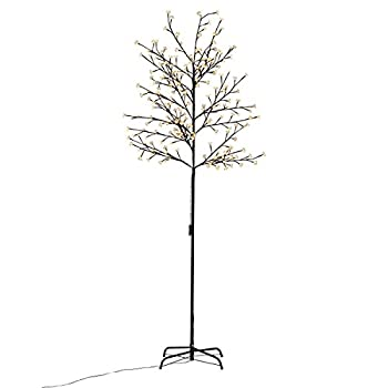 Goplus Cherry Blossom Lighted Tree LED Floor 