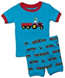 "Leveret Shorts ""Pickup Truck"" Boy 2 Piece Pajama 100% Cotton (Size 2-5 Years)"