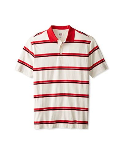 Cutter & Buck Men's Vintage Varsity Striped Short Sleeve Polo