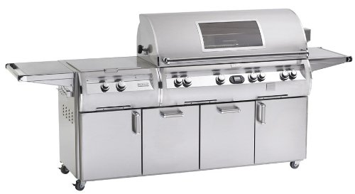Fire Magic Echelon Diamond E1060 All Infrared Natural Gas Grill With Single Side Burner And Power Hood On Cart