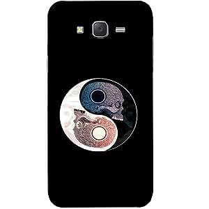 Casotec Skull Design Hard Back Case Cover for Samsung Galaxy J7