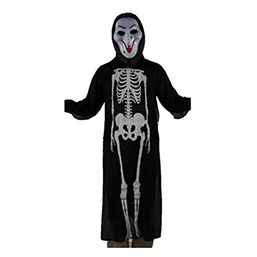 [Hooded Cloak,Neartime Wicca Robe Medieval Cape Shawl Halloween Party Ghost Clothes (F)] (Social King Costume)
