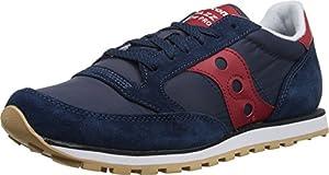 Saucony Originals Men's Jazz Low Pro Classic Retro Sneaker, Navy/Red, 6.5 M US
