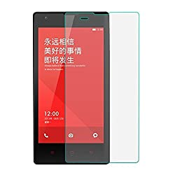 Wellmart Tempered Glass For Xiaomi redmi 1s With Alcohol Wet Cloth Pad & Clean Micro Fibre Dry Cloth, Anti Explosion Tempered Glass Screen Protector For Xiaomi redmi 1s
