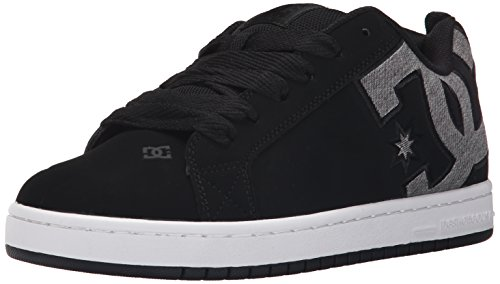 DC Men's Court Graffik SE Skate Shoe,  Black Dark Used,  7 M US