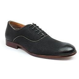 Ferro Aldo Round Toe Men\'s Dress Shoes Lace up Denim Friendly Block Heel Modern Mfa193255 (10 U.S)