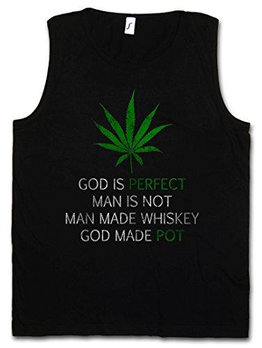 CANNABIS LEAF POEM CANOTTA TANK TOP - Marihuana Weed Ganja Marijuana Pot Smoke Mary Jane Gras Reggae Irie Ites Rastafari Rasta Jamaica Leaf Blunt Joint Smash Amack Dope Legalize It Größen S - 5XL