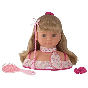 Amazon.com: Corolle Miss Corolle Hairstyling Head: Toys